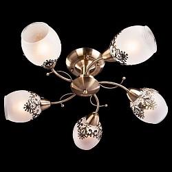 Люстра на штанге Eurosvet5 или 6 ламп<br>Артикул - EV_73724,Бренд - Eurosvet (Китай),Коллекция - 30038,Гарантия, месяцы - 24,Высота, мм - 250,Диаметр, мм - 590,Тип лампы - компактная люминесцентная [КЛЛ] ИЛИнакаливания ИЛИсветодиодная [LED],Общее кол-во ламп - 5,Напряжение питания лампы, В - 220,Максимальная мощность лампы, Вт - 60,Лампы в комплекте - отсутствуют,Цвет плафонов и подвесок - белый, золото,Тип поверхности плафонов - матовый,Материал плафонов и подвесок - матовый, стекло,Цвет арматуры - бронза античная,Тип поверхности арматуры - матовый,Материал арматуры - металл,Возможность подлючения диммера - можно, если установить лампу накаливания,Тип цоколя лампы - E14,Класс электробезопасности - I,Общая мощность, Вт - 300,Степень пылевлагозащиты, IP - 20,Диапазон рабочих температур - комнатная температура,Дополнительные параметры - способ крепления светильника к потолку - на монтажной пластине<br>