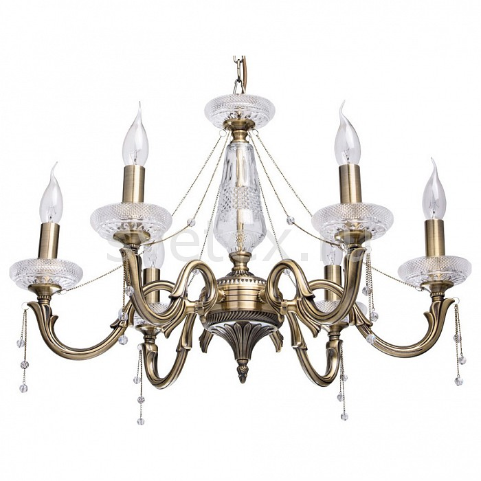 Подвесная люстра MW-Light5 или 6 ламп<br>Артикул - MW_482014206,Бренд - MW-Light (Германия),Коллекция - Селена 12,Гарантия, месяцы - 24,Высота, мм - 900,Диаметр, мм - 670,Тип лампы - компактная люминесцентная [КЛЛ] ИЛИнакаливания ИЛИсветодиодная [LED],Общее кол-во ламп - 6,Напряжение питания лампы, В - 220,Максимальная мощность лампы, Вт - 40,Лампы в комплекте - отсутствуют,Цвет плафонов и подвесок - неокрашенный,Тип поверхности плафонов - прозрачный,Материал плафонов и подвесок - хрусталь,Цвет арматуры - бронза античная, неокрашенный,Тип поверхности арматуры - матовый, прозрачный,Материал арматуры - металл, стекло,Возможность подлючения диммера - можно, если установить лампу накаливания,Форма и тип колбы - свеча ИЛИ свеча на ветру,Тип цоколя лампы - E14,Класс электробезопасности - I,Общая мощность, Вт - 240,Степень пылевлагозащиты, IP - 20,Диапазон рабочих температур - комнатная температура,Дополнительные параметры - способ крепления светильника к потолку - на крюке<br>