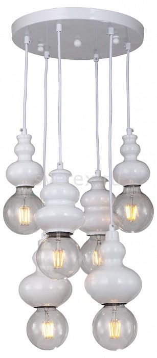 Подвесной светильник FavouriteСветодиодные<br>Артикул - FV_1683-6P,Бренд - Favourite (Германия),Коллекция - Bibili,Гарантия, месяцы - 24,Высота, мм - 680,Диаметр, мм - 300,Тип лампы - компактная люминесцентная [КЛЛ] ИЛИнакаливания ИЛИсветодиодная [LED],Общее кол-во ламп - 6,Напряжение питания лампы, В - 220,Максимальная мощность лампы, Вт - 40,Лампы в комплекте - отсутствуют,Цвет арматуры - белый,Тип поверхности арматуры - глянцевый,Материал арматуры - металл,Возможность подлючения диммера - можно, если установить лампу накаливания,Форма и тип колбы - сферическая,Тип цоколя лампы - E27,Класс электробезопасности - I,Общая мощность, Вт - 240,Степень пылевлагозащиты, IP - 20,Диапазон рабочих температур - комнатная температура,Дополнительные параметры - способ крепления светильника к потолку - на монтажной пластине<br>