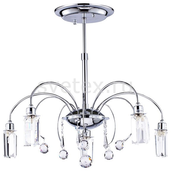 Люстра на штанге MaytoniЛюстры<br>Артикул - MY_MOD605-05-N,Бренд - Maytoni (Германия),Коллекция - Fountain,Гарантия, месяцы - 24,Высота, мм - 580,Диаметр, мм - 530,Тип лампы - галогеновые,Общее кол-во ламп - 5,Напряжение питания лампы, В - 220,Максимальная мощность лампы, Вт - 40,Цвет лампы - белый теплый,Лампы в комплекте - галогеновые G9,Цвет плафонов и подвесок - неокрашенный,Тип поверхности плафонов - прозрачный, рельефный,Материал плафонов и подвесок - стекло, хрусталь,Цвет арматуры - хром,Тип поверхности арматуры - глянцевый,Материал арматуры - металл,Количество плафонов - 5,Возможность подлючения диммера - можно,Форма и тип колбы - пальчиковая,Тип цоколя лампы - G9,Цветовая температура, K - 2800 - 3200 K,Экономичнее лампы накаливания - на 50%,Класс электробезопасности - I,Общая мощность, Вт - 200,Степень пылевлагозащиты, IP - 20,Диапазон рабочих температур - комнатная температура,Дополнительные параметры - способ крепления светильника к потолку - на монтажной пластине<br>