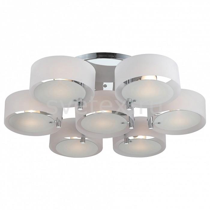 Потолочная люстра ST-LuceПолимерные плафоны<br>Артикул - SL483.502.07,Бренд - ST-Luce (Китай),Коллекция - Foresta,Гарантия, месяцы - 24,Высота, мм - 200,Диаметр, мм - 900,Размер упаковки, мм - 510x510x250,Тип лампы - компактная люминесцентная [КЛЛ] ИЛИнакаливания ИЛИсветодиодная [LED],Общее кол-во ламп - 7,Напряжение питания лампы, В - 220,Максимальная мощность лампы, Вт - 60,Лампы в комплекте - отсутствуют,Цвет плафонов и подвесок - белый,Тип поверхности плафонов - матовый,Материал плафонов и подвесок - акрил, стекло,Цвет арматуры - хром,Тип поверхности арматуры - глянцевый,Материал арматуры - металл,Количество плафонов - 7,Возможность подлючения диммера - можно, если установить лампу накаливания,Тип цоколя лампы - E27,Класс электробезопасности - I,Общая мощность, Вт - 420,Степень пылевлагозащиты, IP - 20,Диапазон рабочих температур - комнатная температура,Дополнительные параметры - способ крепления светильника к потолоку - на монтажной пластине<br>