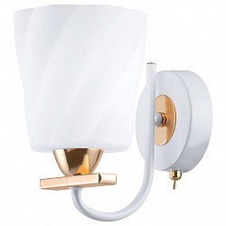 Бра IDLampС 1 лампой<br>Артикул - ID_380_1A-Whitegold,Бренд - IDLamp (Италия),Коллекция - 380,Время изготовления, дней - 1,Высота, мм - 190,Тип лампы - компактная люминесцентная [КЛЛ] ИЛИнакаливания ИЛИсветодиодная [LED],Общее кол-во ламп - 1,Напряжение питания лампы, В - 220,Максимальная мощность лампы, Вт - 60,Лампы в комплекте - отсутствуют,Цвет плафонов и подвесок - белый,Тип поверхности плафонов - матовый, рельефный,Материал плафонов и подвесок - стекло,Цвет арматуры - белый, золото,Тип поверхности арматуры - глянцевый,Материал арматуры - металл,Возможность подлючения диммера - можно, если установить лампу накаливания,Тип цоколя лампы - E14,Класс электробезопасности - I,Степень пылевлагозащиты, IP - 20,Диапазон рабочих температур - комнатная температура,Дополнительные параметры - светильник предназначен для использования со скрытой проводкой, способ крепления светильника к стене – на монтажной пластине<br>