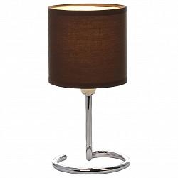 Настольная лампа GloboС абажуром<br>Артикул - GB_24639DB,Бренд - Globo (Австрия),Коллекция - Elfi,Гарантия, месяцы - 24,Высота, мм - 250,Диаметр, мм - 120,Размер упаковки, мм - 125х125х180,Тип лампы - компактная люминесцентная [КЛЛ] ИЛИнакаливания ИЛИсветодиодная [LED],Общее кол-во ламп - 1,Напряжение питания лампы, В - 220,Максимальная мощность лампы, Вт - 40,Лампы в комплекте - отсутствуют,Цвет плафонов и подвесок - темно-коричневый,Тип поверхности плафонов - матовый,Материал плафонов и подвесок - текстиль,Цвет арматуры - хром,Тип поверхности арматуры - глянцевый, металлик,Материал арматуры - металл,Тип цоколя лампы - E14,Класс электробезопасности - II,Степень пылевлагозащиты, IP - 20,Диапазон рабочих температур - комнатная температура<br>