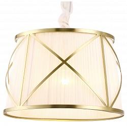 Подвесной светильник Arte LampСветодиодные<br>Артикул - AR_A2805SP-1WH,Бренд - Arte Lamp (Италия),Коллекция - Vitruvio,Время изготовления, дней - 1,Высота, мм - 330-1200,Диаметр, мм - 500,Тип лампы - компактная люминесцентная [КЛЛ] ИЛИнакаливания ИЛИсветодиодная [LED],Общее кол-во ламп - 1,Напряжение питания лампы, В - 220,Максимальная мощность лампы, Вт - 100,Лампы в комплекте - отсутствуют,Цвет плафонов и подвесок - белый,Тип поверхности плафонов - матовый,Материал плафонов и подвесок - текстиль,Цвет арматуры - золото,Тип поверхности арматуры - глянцевый,Материал арматуры - металл,Возможность подлючения диммера - можно, если установить лампу накаливания,Тип цоколя лампы - E27,Класс электробезопасности - I,Степень пылевлагозащиты, IP - 20,Диапазон рабочих температур - комнатная температура<br>