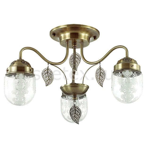 Потолочная люстра LumionЛюстры<br>Артикул - LMN_3288_3C,Бренд - Lumion (Италия),Коллекция - Afemi,Гарантия, месяцы - 24,Высота, мм - 330,Диаметр, мм - 520,Размер упаковки, мм - 170x490x260,Тип лампы - компактная люминесцентная [КЛЛ] ИЛИнакаливания ИЛИсветодиодная [LED],Общее кол-во ламп - 3,Напряжение питания лампы, В - 220,Максимальная мощность лампы, Вт - 40,Лампы в комплекте - отсутствуют,Цвет плафонов и подвесок - бронза, неокрашенный с рисунком,Тип поверхности плафонов - матовый, прозрачный,Материал плафонов и подвесок - металл, стекло,Цвет арматуры - бронза,Тип поверхности арматуры - матовый,Материал арматуры - металл,Количество плафонов - 3,Возможность подлючения диммера - можно, если установить лампу накаливания,Тип цоколя лампы - E14,Класс электробезопасности - I,Общая мощность, Вт - 120,Степень пылевлагозащиты, IP - 20,Диапазон рабочих температур - комнатная температура,Дополнительные параметры - способ крепления светильника к потолку - на монтажной пластине<br>