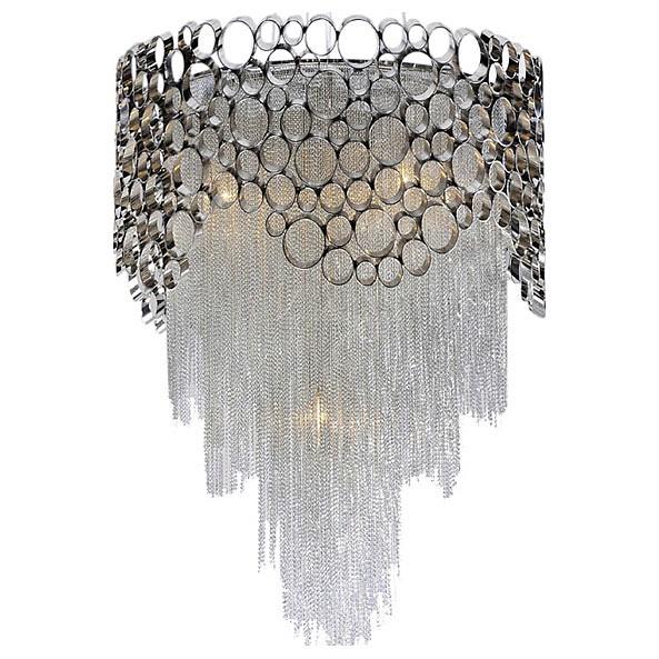 Подвесной светильник Crystal LuxПодвесные светильники<br>Артикул - CU_1960_308,Бренд - Crystal Lux (Испания),Коллекция - Hauberk,Гарантия, месяцы - 24,Высота, мм - 900,Диаметр, мм - 600,Тип лампы - компактная люминесцентная [КЛЛ] ИЛИнакаливания ИЛИсветодиодная [LED],Общее кол-во ламп - 8,Напряжение питания лампы, В - 220,Максимальная мощность лампы, Вт - 40,Лампы в комплекте - отсутствуют,Цвет плафонов и подвесок - никель, хром,Тип поверхности плафонов - матовый, глянцевый,Материал плафонов и подвесок - металл,Цвет арматуры - хром,Тип поверхности арматуры - глянцевый,Материал арматуры - металл,Количество плафонов - 1,Возможность подлючения диммера - можно, если установить лампу накаливания,Тип цоколя лампы - E27,Класс электробезопасности - I,Общая мощность, Вт - 320,Степень пылевлагозащиты, IP - 20,Диапазон рабочих температур - комнатная температура,Дополнительные параметры - способ крепления светильника к потолку – на монтажной пластине, указана высота светильника без подвеса<br>