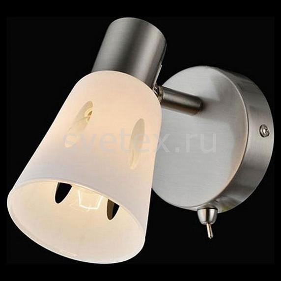 Бра EurosvetСтеклянный плафон<br>Артикул - EV_77092,Бренд - Eurosvet (Китай),Коллекция - Милан,Гарантия, месяцы - 24,Ширина, мм - 90,Высота, мм - 160,Выступ, мм - 170,Тип лампы - компактная люминесцентная [КЛЛ] ИЛИнакаливания ИЛИсветодиодная [LED],Общее кол-во ламп - 1,Напряжение питания лампы, В - 220,Максимальная мощность лампы, Вт - 40,Лампы в комплекте - отсутствуют,Цвет плафонов и подвесок - белый с прозрачным рисунком,Тип поверхности плафонов - матовый,Материал плафонов и подвесок - стекло,Цвет арматуры - никель,Тип поверхности арматуры - матовый,Материал арматуры - металл,Количество плафонов - 1,Наличие выключателя, диммера или пульта ДУ - выключатель,Возможность подлючения диммера - можно, если установить лампу накаливания,Тип цоколя лампы - E14,Класс электробезопасности - I,Степень пылевлагозащиты, IP - 20,Диапазон рабочих температур - комнатная температура,Дополнительные параметры - способ крепления светильника к стене - на монтажной пластине, светильник предназначен для  использования со скрытой проводкой, поворотный светильник<br>
