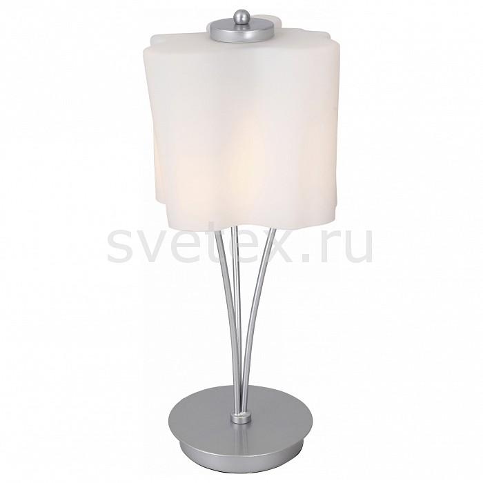 Настольная лампа декоративная ST-LuceСветильники<br>Артикул - SL116.504.01,Бренд - ST-Luce (Италия),Коллекция - Onde,Гарантия, месяцы - 24,Высота, мм - 440,Диаметр, мм - 200,Размер упаковки, мм - 280x270x500,Тип лампы - компактная люминесцентная [КЛЛ] ИЛИнакаливания ИЛИсветодиодная [LED],Общее кол-во ламп - 1,Напряжение питания лампы, В - 220,Максимальная мощность лампы, Вт - 60,Лампы в комплекте - отсутствуют,Цвет плафонов и подвесок - белый,Тип поверхности плафонов - матовый,Материал плафонов и подвесок - стекло,Цвет арматуры - серебро,Тип поверхности арматуры - матовый,Материал арматуры - металл,Количество плафонов - 1,Наличие выключателя, диммера или пульта ДУ - выключатель на проводе,Компоненты, входящие в комплект - провод электропитания с вилкой без заземления,Тип цоколя лампы - E27,Класс электробезопасности - II,Степень пылевлагозащиты, IP - 20,Диапазон рабочих температур - комнатная температура<br>