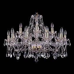 Подвесная люстра Bohemia Ivele CrystalБолее 6 ламп<br>Артикул - BI_1413_10_5_300_G,Бренд - Bohemia Ivele Crystal (Чехия),Коллекция - 1413,Гарантия, месяцы - 24,Высота, мм - 580,Диаметр, мм - 820,Размер упаковки, мм - 710x710x350,Тип лампы - компактная люминесцентная [КЛЛ] ИЛИнакаливания ИЛИсветодиодная [LED],Общее кол-во ламп - 15,Напряжение питания лампы, В - 220,Максимальная мощность лампы, Вт - 40,Лампы в комплекте - отсутствуют,Цвет плафонов и подвесок - неокрашенный,Тип поверхности плафонов - прозрачный,Материал плафонов и подвесок - хрусталь,Цвет арматуры - золото, неокрашенный,Тип поверхности арматуры - глянцевый, прозрачный, рельефный,Материал арматуры - металл, стекло,Возможность подлючения диммера - можно, если установить лампу накаливания,Форма и тип колбы - свеча ИЛИ свеча на ветру,Тип цоколя лампы - E14,Класс электробезопасности - I,Общая мощность, Вт - 600,Степень пылевлагозащиты, IP - 20,Диапазон рабочих температур - комнатная температура,Дополнительные параметры - способ крепления светильника к потолку - на крюке, указана высота светильника без подвеса<br>