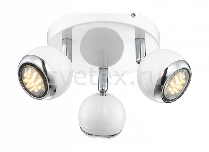 Спот GloboСпоты<br>Артикул - GB_57882-3O,Бренд - Globo (Австрия),Коллекция - Oman,Гарантия, месяцы - 24,Выступ, мм - 130,Диаметр, мм - 180,Размер упаковки, мм - 200x200x110,Тип лампы - галогеновая ИЛИсветодиодная [LED],Общее кол-во ламп - 3,Напряжение питания лампы, В - 220,Максимальная мощность лампы, Вт - 50,Лампы в комплекте - отсутствуют,Цвет плафонов и подвесок - белый с хромированной каймой,Тип поверхности плафонов - глянцевый, матовый,Материал плафонов и подвесок - металл,Цвет арматуры - белый, хром,Тип поверхности арматуры - глянцевый, матовый,Материал арматуры - металл,Количество плафонов - 3,Возможность подлючения диммера - нельзя,Форма и тип колбы - полусферическая с рефлектором,Тип цоколя лампы - GU10,Класс электробезопасности - I,Степень пылевлагозащиты, IP - 20,Диапазон рабочих температур - комнатная температура,Дополнительные параметры - способ крепления светильника к потолку и стене - на монтажной пластине, поворотный светильник<br>