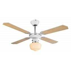 Светильник с вентилятором GloboКруглые<br>Артикул - GB_03300,Бренд - Globo (Австрия),Коллекция - Sargantana,Гарантия, месяцы - 24,Высота, мм - 440,Диаметр, мм - 1070,Тип лампы - компактная люминесцентная [КЛЛ] ИЛИнакаливания ИЛИсветодиодная [LED],Общее кол-во ламп - 1,Напряжение питания лампы, В - 220,Максимальная мощность лампы, Вт - 60,Лампы в комплекте - отсутствуют,Цвет плафонов и подвесок - белый,Тип поверхности плафонов - матовый,Материал плафонов и подвесок - стекло,Цвет арматуры - белый, коричневый, хром,Тип поверхности арматуры - глянцевый, матовый,Материал арматуры - МДФ, металл,Возможность подлючения диммера - можно, если установить лампу накаливания,Тип цоколя лампы - E27,Класс электробезопасности - I,Общая мощность, Вт - 115,Степень пылевлагозащиты, IP - 20,Диапазон рабочих температур - комнатная температура,Дополнительные параметры - светильник с вентилятором:напряжения питания вентилятора 230 Вмощность вентилятора 55 Вт3 скорости вращения вентилятора, оптимально для помещения 10 кв.м<br>