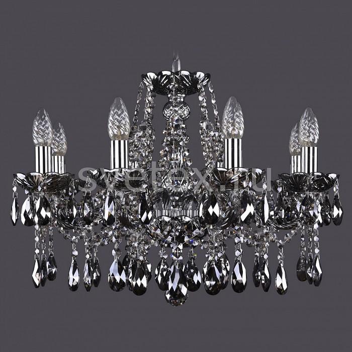Подвесная люстра Bohemia Ivele CrystalБолее 6 ламп<br>Артикул - BI_1413_8_200_Ni_M731,Бренд - Bohemia Ivele Crystal (Чехия),Коллекция - 1413,Гарантия, месяцы - 24,Высота, мм - 400,Диаметр, мм - 570,Размер упаковки, мм - 450x450x200,Тип лампы - компактная люминесцентная [КЛЛ] ИЛИнакаливания ИЛИсветодиодная [LED],Общее кол-во ламп - 8,Напряжение питания лампы, В - 220,Максимальная мощность лампы, Вт - 40,Лампы в комплекте - отсутствуют,Цвет плафонов и подвесок - дымчатый светлый,Тип поверхности плафонов - прозрачный,Материал плафонов и подвесок - хрусталь,Цвет арматуры - дымчатый светлый, никель,Тип поверхности арматуры - глянцевый, прозрачный, рельефный,Материал арматуры - металл, стекло,Возможность подлючения диммера - можно, если установить лампу накаливания,Форма и тип колбы - свеча ИЛИ свеча на ветру,Тип цоколя лампы - E14,Класс электробезопасности - I,Общая мощность, Вт - 320,Степень пылевлагозащиты, IP - 20,Диапазон рабочих температур - комнатная температура,Дополнительные параметры - способ крепления светильника к потолку - на крюке, указана высота светильника без подвеса<br>