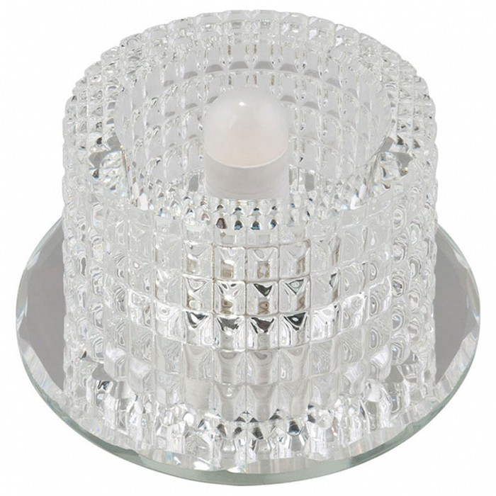 Встраиваемый светильник UnielКруглые<br>Примечание - прозрачный,Артикул - UL_10123,Бренд - Uniel (Китай),Коллекция - Fiore,Гарантия, месяцы - 24,Высота, мм - 77,Выступ, мм - 57,Глубина, мм - 20,Диаметр, мм - 98,Размер врезного отверстия, мм - d65,Тип лампы - светодиодная (LED), галогеновая,Общее кол-во ламп - 1,Максимальная мощность лампы, Вт - 35,Лампы в комплекте - отсутствуют,Цвет плафонов и подвесок - неокрашенный,Тип поверхности плафонов - прозрачный,Материал плафонов и подвесок - стекло,Цвет арматуры - неокрашенный,Тип поверхности арматуры - глянцевый,Материал арматуры - зеркало,Количество плафонов - 1,Возможность подлючения диммера - можно, если установить галогеновую лампу,Форма и тип колбы - пальчиковая,Тип цоколя лампы - G9,Класс электробезопасности - I,Напряжение питания, В - 220,Степень пылевлагозащиты, IP - 20,Диапазон рабочих температур - комнатная температура<br>