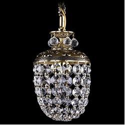 Подвесной светильник Bohemia Ivele CrystalБез плафонов<br>Артикул - BI_1777_14_GB,Бренд - Bohemia Ivele Crystal (Чехия),Коллекция - 1777,Гарантия, месяцы - 24,Высота, мм - 280,Диаметр, мм - 140,Размер упаковки, мм - 250x250x200,Тип лампы - компактная люминесцентная [КЛЛ] ИЛИнакаливания ИЛИсветодиодная [LED],Общее кол-во ламп - 1,Напряжение питания лампы, В - 220,Максимальная мощность лампы, Вт - 40,Лампы в комплекте - отсутствуют,Цвет плафонов и подвесок - неокрашенный,Тип поверхности плафонов - прозрачный,Материал плафонов и подвесок - хрусталь,Цвет арматуры - золото черненое,Тип поверхности арматуры - глянцевый, рельефный,Материал арматуры - латунь,Возможность подлючения диммера - можно, если установить лампу накаливания,Тип цоколя лампы - E14,Класс электробезопасности - I,Степень пылевлагозащиты, IP - 20,Диапазон рабочих температур - комнатная температура,Дополнительные параметры - способ крепления светильника к потолку - на крюке, указана высота светильника без подвеса<br>