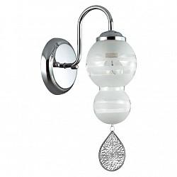 Бра LumionС 1 лампой<br>Артикул - LMN_3274_1W,Бренд - Lumion (Италия),Коллекция - Piretta,Гарантия, месяцы - 24,Высота, мм - 180,Тип лампы - компактная люминесцентная [КЛЛ] ИЛИнакаливания ИЛИсветодиодная [LED],Общее кол-во ламп - 1,Напряжение питания лампы, В - 220,Максимальная мощность лампы, Вт - 60,Лампы в комплекте - отсутствуют,Цвет плафонов и подвесок - белый полосатый, хром,Тип поверхности плафонов - матовый,Материал плафонов и подвесок - металл, стекло,Цвет арматуры - хром,Тип поверхности арматуры - глянцевый, металлик,Материал арматуры - металл,Количество плафонов - 1,Возможность подлючения диммера - можно, если установить лампу накаливания,Тип цоколя лампы - E14,Класс электробезопасности - I,Степень пылевлагозащиты, IP - 20,Диапазон рабочих температур - комнатная температура,Дополнительные параметры - способ крепления светильника на стене – на монтажной пластине, светильник предназначен для использования со скрытой проводкой<br>