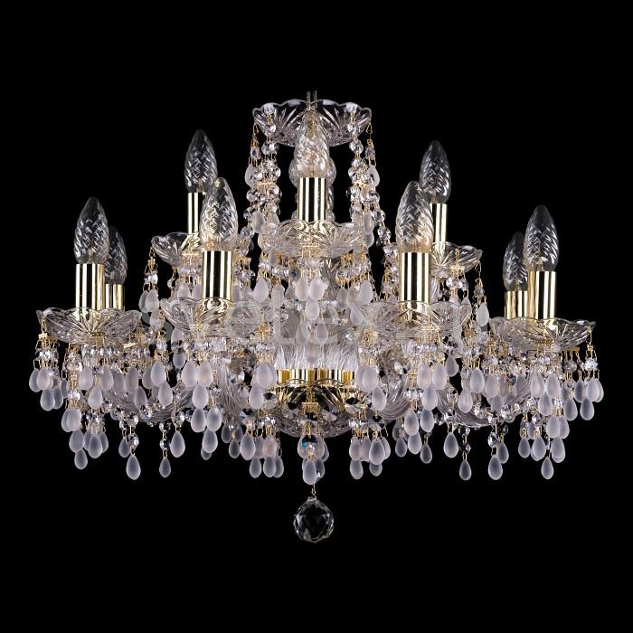 Фото Подвесная люстра Bohemia Ivele Crystal 1410 1410/8_4/195/G/0300