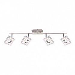 Спот GloboС 4 лампами<br>Артикул - GB_56138-4,Бренд - Globo (Австрия),Коллекция - Kerstin,Гарантия, месяцы - 24,Размер упаковки, мм - 195x135x370,Тип лампы - светодиодная [LED],Общее кол-во ламп - 4,Напряжение питания лампы, В - 130,Максимальная мощность лампы, Вт - 4, 2,Лампы в комплекте - светодиодные [LED],Цвет плафонов и подвесок - белый с неокрашенной каймой,Тип поверхности плафонов - матовый,Материал плафонов и подвесок - акрил,Цвет арматуры - никель, хром,Тип поверхности арматуры - глянцевый, матовый,Материал арматуры - металл,Возможность подлючения диммера - нельзя,Класс электробезопасности - I,Общая мощность, Вт - 16,Степень пылевлагозащиты, IP - 20,Диапазон рабочих температур - комнатная температура,Дополнительные параметры - способ крепления светильника к стене и потолку - на монтажной пластине, поворотный светильник<br>