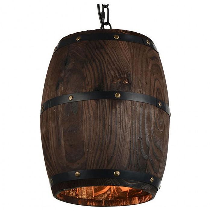 Подвесной светильник LussoleБарные<br>Артикул - LSP-9844,Бренд - Lussole (Италия),Коллекция - LSP-984,Гарантия, месяцы - 24,Высота, мм - 330-1200,Диаметр, мм - 250,Тип лампы - компактная люминесцентная [КЛЛ] ИЛИнакаливания ИЛИсветодиодная [LED],Общее кол-во ламп - 1,Напряжение питания лампы, В - 220,Максимальная мощность лампы, Вт - 60,Лампы в комплекте - отсутствуют,Цвет плафонов и подвесок - коричневый, черный,Тип поверхности плафонов - матовый,Материал плафонов и подвесок - дерево, металл,Цвет арматуры - коричневый,Тип поверхности арматуры - матовый,Материал арматуры - металл,Количество плафонов - 1,Возможность подлючения диммера - можно, если установить лампу накаливания,Тип цоколя лампы - E27,Класс электробезопасности - I,Степень пылевлагозащиты, IP - 20,Диапазон рабочих температур - комнатная температура,Дополнительные параметры - способ крепления светильника к потолку - монтажной пластине, регулируется по высоте, стиль кантри<br>