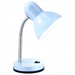Настольная лампа GloboМеталлический плафон<br>Артикул - GB_2485,Бренд - Globo (Австрия),Коллекция - Basic,Гарантия, месяцы - 24,Высота, мм - 330,Диаметр, мм - 130,Тип лампы - компактная люминесцентная [КЛЛ] ИЛИнакаливания ИЛИсветодиодная [LED],Общее кол-во ламп - 1,Напряжение питания лампы, В - 220,Максимальная мощность лампы, Вт - 40,Лампы в комплекте - отсутствуют,Цвет плафонов и подвесок - белый,Тип поверхности плафонов - матовый,Материал плафонов и подвесок - металл,Цвет арматуры - белый, хром,Тип поверхности арматуры - глянцевый, матовый,Материал арматуры - металл, полимер,Количество плафонов - 1,Тип цоколя лампы - E27,Класс электробезопасности - II,Степень пылевлагозащиты, IP - 20,Диапазон рабочих температур - комнатная температура,Дополнительные параметры - поворотный светильник<br>