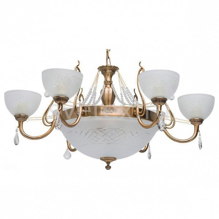 Подвесная люстра MW-LightЛюстры<br>Артикул - MW_450013309,Бренд - MW-Light (Германия),Коллекция - Ариадна,Гарантия, месяцы - 24,Высота, мм - 570-850,Диаметр, мм - 860,Тип лампы - компактная люминесцентная [КЛЛ] ИЛИнакаливания ИЛИсветодиодная [LED],Общее кол-во ламп - 9,Напряжение питания лампы, В - 220,Максимальная мощность лампы, Вт - 60,Лампы в комплекте - отсутствуют,Цвет плафонов и подвесок - белый с неокрашенным рисунком, неокрашенный,Тип поверхности плафонов - матовый, прозрачный,Материал плафонов и подвесок - стекло, хрусталь,Цвет арматуры - бронза,Тип поверхности арматуры - матовый,Материал арматуры - металл,Количество плафонов - 7,Возможность подлючения диммера - можно, если установить лампу накаливания,Тип цоколя лампы - E27,Класс электробезопасности - I,Общая мощность, Вт - 540,Степень пылевлагозащиты, IP - 20,Диапазон рабочих температур - комнатная температура,Дополнительные параметры - способ крепления светильника на потолке - на крюке, регулируется по высоте<br>