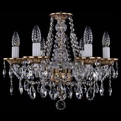 Подвесная люстра Bohemia Ivele Crystal5 или 6 ламп<br>Артикул - BI_1613_6_165_FP,Бренд - Bohemia Ivele Crystal (Чехия),Коллекция - 1613,Гарантия, месяцы - 12,Высота, мм - 410,Диаметр, мм - 490,Размер упаковки, мм - 450x450x200,Тип лампы - компактная люминесцентная [КЛЛ] ИЛИнакаливания ИЛИсветодиодная [LED],Общее кол-во ламп - 6,Напряжение питания лампы, В - 220,Максимальная мощность лампы, Вт - 40,Лампы в комплекте - отсутствуют,Цвет плафонов и подвесок - неокрашенный,Тип поверхности плафонов - прозрачный,Материал плафонов и подвесок - хрусталь,Цвет арматуры - патина французская, неокрашенный,Тип поверхности арматуры - глянцевый, прозрачный,Материал арматуры - металл, стекло,Возможность подлючения диммера - можно, если установить лампу накаливания,Форма и тип колбы - свеча ИЛИ свеча на ветру,Тип цоколя лампы - E14,Класс электробезопасности - I,Общая мощность, Вт - 240,Степень пылевлагозащиты, IP - 20,Диапазон рабочих температур - комнатная температура,Дополнительные параметры - способ крепления светильника к потолку – на крюке<br>