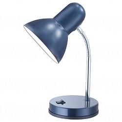 Настольная лампа GloboМеталлический плафон<br>Артикул - GB_2486,Бренд - Globo (Австрия),Коллекция - Basic,Гарантия, месяцы - 24,Время изготовления, дней - 1,Высота, мм - 330,Диаметр, мм - 130,Размер упаковки, мм - 210x145x135,Тип лампы - компактная люминесцентная [КЛЛ] ИЛИнакаливания ИЛИсветодиодная [LED],Общее кол-во ламп - 1,Напряжение питания лампы, В - 220,Максимальная мощность лампы, Вт - 40,Лампы в комплекте - отсутствуют,Цвет плафонов и подвесок - синий,Тип поверхности плафонов - матовый,Материал плафонов и подвесок - металл,Цвет арматуры - синий, хром,Тип поверхности арматуры - матовый,Материал арматуры - металл, полимер,Тип цоколя лампы - E27,Класс электробезопасности - II,Степень пылевлагозащиты, IP - 20,Диапазон рабочих температур - комнатная температура,Дополнительные параметры - поворотный светильник<br>