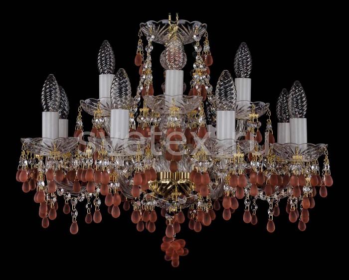 Фото Подвесная люстра Bohemia Ivele Crystal 1410 1410/8_4/195/G/7010