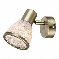 Спот GloboС 1 лампой<br>Артикул - GB_56046-1,Бренд - Globo (Австрия),Коллекция - Elsa,Гарантия, месяцы - 24,Размер упаковки, мм - 145x85x115,Тип лампы - светодиодная [LED],Общее кол-во ламп - 1,Напряжение питания лампы, В - 220,Максимальная мощность лампы, Вт - 4,Лампы в комплекте - светодиодная [LED] E14,Цвет плафонов и подвесок - неокрашенный с каймой,Тип поверхности плафонов - матовый,Материал плафонов и подвесок - акрил,Цвет арматуры - бронза античная,Тип поверхности арматуры - матовый,Материал арматуры - металл,Возможность подлючения диммера - нельзя,Форма и тип колбы - сферическая,Тип цоколя лампы - E14,Класс электробезопасности - I,Степень пылевлагозащиты, IP - 20,Диапазон рабочих температур - комнатная температура,Дополнительные параметры - способ крепления светильника к стене и потолку - на монтажной пластине, поворотный светильник<br>