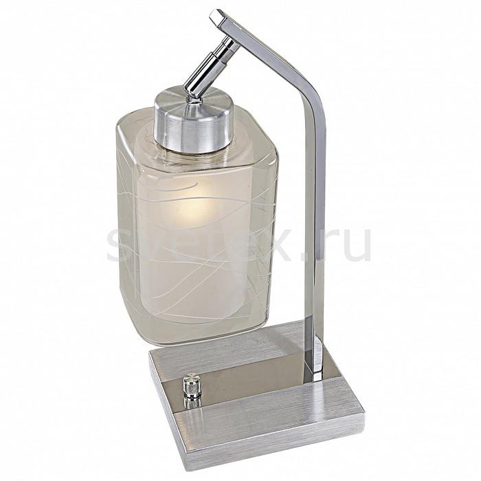 Настольная лампа Citiluxприкроватные светильники для спальни купить<br>Артикул - CL159812,Бренд - Citilux (Дания),Коллекция - Румба,Гарантия, месяцы - 24,Время изготовления, дней - 1,Ширина, мм - 140,Высота, мм - 380,Выступ, мм - 160,Тип лампы - компактная люминесцентная [КЛЛ] ИЛИнакаливания ИЛИсветодиодная [LED],Общее кол-во ламп - 1,Напряжение питания лампы, В - 220,Максимальная мощность лампы, Вт - 75,Лампы в комплекте - отсутствуют,Цвет плафонов и подвесок - белый, неокрашенный с рисунком,Тип поверхности плафонов - матовый, прозрачный,Материал плафонов и подвесок - стекло,Цвет арматуры - алюминий, хром,Тип поверхности арматуры - глянцевый,Материал арматуры - металл,Количество плафонов - 1,Наличие выключателя, диммера или пульта ДУ - выключатель,Компоненты, входящие в комплект - провод электропитания с вилкой без заземления длиной 2 м.,Тип цоколя лампы - E27,Класс электробезопасности - II,Степень пылевлагозащиты, IP - 20,Диапазон рабочих температур - комнатная температура,Дополнительные параметры - провод электропитания с вилкой без заземления<br>