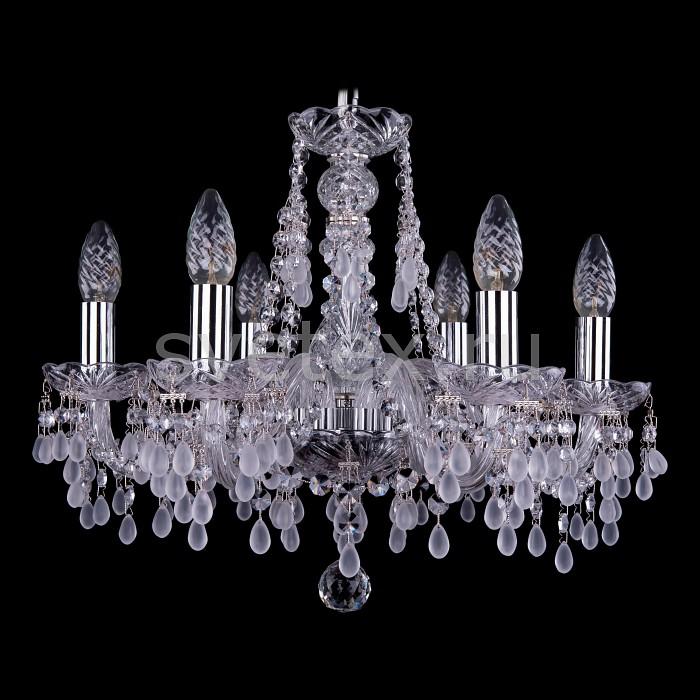 Фото Подвесная люстра Bohemia Ivele Crystal 1410 1410/6/160/Ni/0300