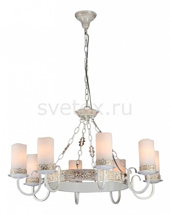 Подвесная люстра MaytoniЛюстры<br>Артикул - MY_ARM562-08-W,Бренд - Maytoni (Германия),Коллекция - Classic 12,Гарантия, месяцы - 24,Время изготовления, дней - 1,Высота, мм - 470-970,Диаметр, мм - 730,Тип лампы - компактная люминесцентная [КЛЛ] ИЛИнакаливания ИЛИсветодиодная [LED],Общее кол-во ламп - 8,Напряжение питания лампы, В - 220,Максимальная мощность лампы, Вт - 60,Лампы в комплекте - отсутствуют,Цвет плафонов и подвесок - белый,Тип поверхности плафонов - матовый,Материал плафонов и подвесок - стекло,Цвет арматуры - белый, золото,Тип поверхности арматуры - матовый,Материал арматуры - металл,Количество плафонов - 8,Тип цоколя лампы - E14,Класс электробезопасности - I,Общая мощность, Вт - 480,Степень пылевлагозащиты, IP - 20,Диапазон рабочих температур - комнатная температура,Дополнительные параметры - указана высота светильника без подвеса<br>
