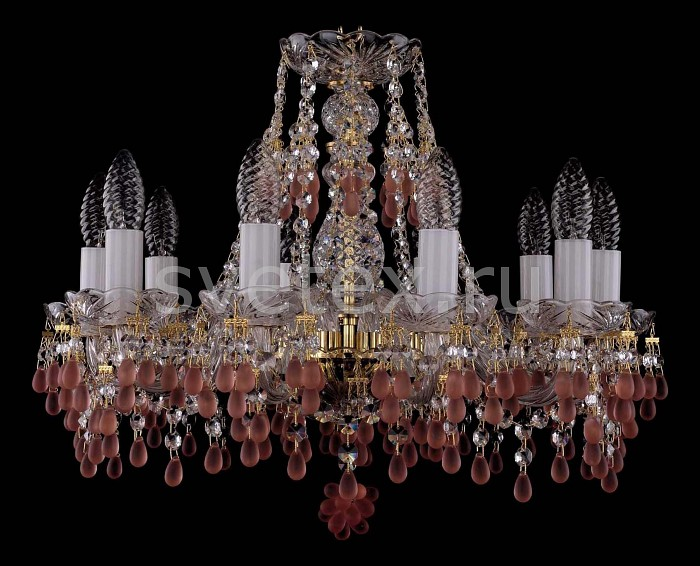 Фото Подвесная люстра Bohemia Ivele Crystal 1410 1410/10/160/G/7010