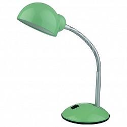 Настольная лампа Odeon LightМеталлический плафон<br>Артикул - OD_2083_1T,Бренд - Odeon Light (Италия),Коллекция - Kiva,Гарантия, месяцы - 24,Высота, мм - 340,Тип лампы - компактная люминесцентная [КЛЛ] ИЛИнакаливания ИЛИсветодиодная [LED],Общее кол-во ламп - 1,Напряжение питания лампы, В - 220,Максимальная мощность лампы, Вт - 60,Лампы в комплекте - отсутствуют,Цвет плафонов и подвесок - зеленый,Тип поверхности плафонов - глянцевый,Материал плафонов и подвесок - металл,Цвет арматуры - зеленый, серебро,Тип поверхности арматуры - глянцевый, рельефный,Материал арматуры - металл,Тип цоколя лампы - E27,Класс электробезопасности - II,Степень пылевлагозащиты, IP - 20,Диапазон рабочих температур - комнатная температура,Дополнительные параметры - поворотный светильник<br>
