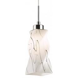 Подвесной светильник Odeon LightБарные<br>Артикул - OD_2285_1C,Бренд - Odeon Light (Италия),Коллекция - Zoro,Гарантия, месяцы - 24,Высота, мм - 260-800,Тип лампы - компактная люминесцентная [КЛЛ] ИЛИнакаливания ИЛИсветодиодная [LED],Общее кол-во ламп - 1,Напряжение питания лампы, В - 220,Максимальная мощность лампы, Вт - 60,Лампы в комплекте - отсутствуют,Цвет плафонов и подвесок - белый с черным рисунком,Тип поверхности плафонов - матовый, рельефный,Материал плафонов и подвесок - стекло,Цвет арматуры - венге, никель,Тип поверхности арматуры - глянцевый,Материал арматуры - металл,Возможность подлючения диммера - можно, если установить лампу накаливания,Тип цоколя лампы - E27,Класс электробезопасности - I,Степень пылевлагозащиты, IP - 20,Диапазон рабочих температур - комнатная температура<br>