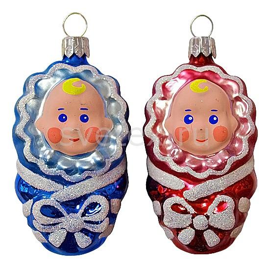 Набор елочных игрушек АРТИ-МЕлочные игрушки<br>Артикул - art_860-173,Бренд - АРТИ-М (Россия),Коллекция - Малютка,Высота, мм - 80,Цвет - красный, перламутровый, синий,Материал - стекло<br>