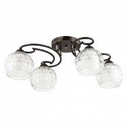 Потолочная люстра LumionНе более 4 ламп<br>Артикул - LMN_3082_4C,Бренд - Lumion (Италия),Коллекция - Ampolla,Гарантия, месяцы - 24,Высота, мм - 200,Размер упаковки, мм - 460x200x350,Тип лампы - компактная люминесцентная [КЛЛ] ИЛИнакаливания ИЛИсветодиодная [LED],Общее кол-во ламп - 4,Напряжение питания лампы, В - 220,Максимальная мощность лампы, Вт - 60,Лампы в комплекте - отсутствуют,Цвет плафонов и подвесок - белый, неокрашенный,Тип поверхности плафонов - матовый, прозрачный, рельефный,Материал плафонов и подвесок - стекло,Цвет арматуры - черный с золотой патиной,Тип поверхности арматуры - матовый,Материал арматуры - металл,Возможность подлючения диммера - можно, если установить лампу накаливания,Тип цоколя лампы - E27,Класс электробезопасности - I,Общая мощность, Вт - 240,Степень пылевлагозащиты, IP - 20,Диапазон рабочих температур - комнатная температура,Дополнительные параметры - способ крепления к потолку - на монтажной пластине<br>