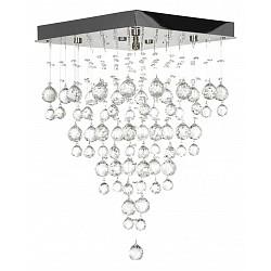 Накладной светильник Arti LampadariКвадратные<br>Артикул - AL_Flusso_H_1.4.40.615_N,Бренд - Arti Lampadari (Италия),Коллекция - Flusso,Гарантия, месяцы - 24,Высота, мм - 660,Тип лампы - галогеновая ИЛИсветодиодная [LED],Общее кол-во ламп - 6,Напряжение питания лампы, В - 220,Максимальная мощность лампы, Вт - 40,Лампы в комплекте - отсутствуют,Цвет плафонов и подвесок - неокрашенный,Тип поверхности плафонов - прозрачный,Материал плафонов и подвесок - хрусталь,Цвет арматуры - никель,Тип поверхности арматуры - глянцевый,Материал арматуры - металл,Возможность подлючения диммера - можно, если установить галогеновую лампу,Форма и тип колбы - пальчиковая,Тип цоколя лампы - G9,Класс электробезопасности - I,Общая мощность, Вт - 240,Степень пылевлагозащиты, IP - 20,Диапазон рабочих температур - комнатная температура,Дополнительные параметры - способ крепления к потолку - на монтажной пластине<br>