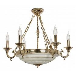 Подвесная люстра Arti Lampadari5 или 6 ламп<br>Артикул - AL_Pavia_E_1.13.6_G,Бренд - Arti Lampadari (Италия),Коллекция - Pavia,Гарантия, месяцы - 24,Высота, мм - 600,Диаметр, мм - 660,Тип лампы - компактная люминесцентная [КЛЛ] ИЛИнакаливания ИЛИсветодиодная [LED],Общее кол-во ламп - 6,Напряжение питания лампы, В - 220,Максимальная мощность лампы, Вт - 40,Лампы в комплекте - отсутствуют,Цвет арматуры - белый, золото,Тип поверхности арматуры - глянцевый, матовый,Материал арматуры - металл, стекло,Возможность подлючения диммера - можно, если установить лампу накаливания,Форма и тип колбы - свеча ИЛИ свеча на ветру,Тип цоколя лампы - E14,Класс электробезопасности - I,Общая мощность, Вт - 240,Степень пылевлагозащиты, IP - 20,Диапазон рабочих температур - комнатная температура,Дополнительные параметры - способ крепления светильника к потолку - на крюке, указана высота светильника без подвеса<br>