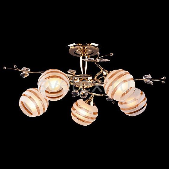 Фото Люстра на штанге Eurosvet 10505 10505/5 золото/коричневый