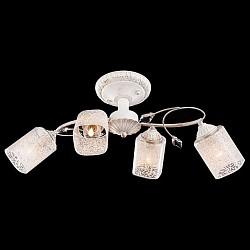 Люстра на штанге ОптимаНе более 4 ламп<br>Артикул - EV_73971,Бренд - Оптима (Китай),Коллекция - 30053,Гарантия, месяцы - 24,Высота, мм - 240,Тип лампы - компактная люминесцентная [КЛЛ] ИЛИнакаливания ИЛИсветодиодная [LED],Общее кол-во ламп - 4,Напряжение питания лампы, В - 220,Максимальная мощность лампы, Вт - 60,Лампы в комплекте - отсутствуют,Цвет плафонов и подвесок - белый с узором, неокрашенный,Тип поверхности плафонов - матовый,Материал плафонов и подвесок - стекло, хрусталь,Цвет арматуры - белый с золотом,Тип поверхности арматуры - матовый,Материал арматуры - металл,Возможность подлючения диммера - можно, если установить лампу накаливания,Тип цоколя лампы - E14,Класс электробезопасности - I,Общая мощность, Вт - 240,Степень пылевлагозащиты, IP - 20,Диапазон рабочих температур - комнатная температура,Дополнительные параметры - способ крепления светильника к потолку - на монтажной пластине<br>