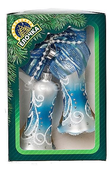 Елочная игрушка АРТИ-МЕлочные игрушки<br>Артикул - art_860-065,Бренд - АРТИ-М (Россия),Коллекция - Бубенчики,Высота, мм - 100,Цвет - голубой, серебряный,Материал - стекло<br>