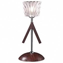 Настольная лампа Odeon LightДеревянные<br>Артикул - OD_2236_1T,Бренд - Odeon Light (Италия),Коллекция - Okino,Гарантия, месяцы - 24,Высота, мм - 360,Диаметр, мм - 230,Тип лампы - галогеновая,Общее кол-во ламп - 1,Напряжение питания лампы, В - 220,Максимальная мощность лампы, Вт - 40,Лампы в комплекте - галогеновая G9,Цвет плафонов и подвесок - белый,Тип поверхности плафонов - матовый, рельефный,Материал плафонов и подвесок - стекло,Цвет арматуры - венге, хром,Тип поверхности арматуры - матовый,Материал арматуры - дерево, металл,Форма и тип колбы - пальчиковая,Тип цоколя лампы - G9,Класс электробезопасности - II,Степень пылевлагозащиты, IP - 20,Диапазон рабочих температур - комнатная температура,Дополнительные параметры - диаметр основания светильника 230 мм<br>