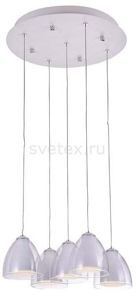 Подвесной светильник IDLampСветодиодные<br>Артикул - ID_394_5-LEDWhite,Бренд - IDLamp (Италия),Коллекция - 394,Гарантия, месяцы - 24,Время изготовления, дней - 1,Высота, мм - 1000,Диаметр, мм - 400,Тип лампы - светодиодная [LED],Общее кол-во ламп - 5,Напряжение питания лампы, В - 220,Максимальная мощность лампы, Вт - 6,Цвет лампы - белый,Лампы в комплекте - светодиодные [LED],Цвет плафонов и подвесок - белый, неокрашенный,Тип поверхности плафонов - матовый, прозрачный,Материал плафонов и подвесок - акрил,Цвет арматуры - белый,Тип поверхности арматуры - матовый,Материал арматуры - металл,Количество плафонов - 5,Возможность подлючения диммера - нельзя,Цветовая температура, K - 4200 K,Класс электробезопасности - I,Общая мощность, Вт - 30,Степень пылевлагозащиты, IP - 20,Диапазон рабочих температур - комнатная температура<br>