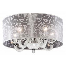 Светильник на штанге Odeon LightКруглые<br>Артикул - OD_2536_5C,Бренд - Odeon Light (Италия),Коллекция - Danli,Гарантия, месяцы - 24,Высота, мм - 400,Диаметр, мм - 600,Тип лампы - компактная люминесцентная [КЛЛ] ИЛИнакаливания ИЛИсветодиодная [LED],Общее кол-во ламп - 5,Напряжение питания лампы, В - 220,Максимальная мощность лампы, Вт - 40,Лампы в комплекте - отсутствуют,Цвет плафонов и подвесок - неокрашенный с белым рисунком,Тип поверхности плафонов - прозрачный,Материал плафонов и подвесок - органза,Цвет арматуры - белый, хром,Тип поверхности арматуры - глянцевый,Материал арматуры - стекло, металл,Возможность подлючения диммера - можно, если установить лампу накаливания,Тип цоколя лампы - E14,Класс электробезопасности - I,Общая мощность, Вт - 200,Степень пылевлагозащиты, IP - 20,Диапазон рабочих температур - комнатная температура<br>