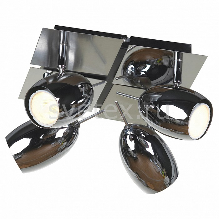 Спот LussoleКвадратные<br>Артикул - LSN-4301-04,Бренд - Lussole (Италия),Коллекция - Baron,Гарантия, месяцы - 24,Время изготовления, дней - 1,Длина, мм - 250,Ширина, мм - 250,Выступ, мм - 160,Тип лампы - компактная люминесцентная [КЛЛ],Общее кол-во ламп - 4,Напряжение питания лампы, В - 220,Максимальная мощность лампы, Вт - 7,Цвет лампы - белый теплый,Лампы в комплекте - компактные люминесцентные [КЛЛ] GU10,Цвет плафонов и подвесок - хром,Тип поверхности плафонов - глянцевый,Материал плафонов и подвесок - металл,Цвет арматуры - никель, хром,Тип поверхности арматуры - глянцевый, матовый,Материал арматуры - металл,Количество плафонов - 4,Возможность подлючения диммера - нельзя,Форма и тип колбы - конусная с рефлектором,Тип цоколя лампы - GU10,Цветовая температура, K - 2700 K,Экономичнее лампы накаливания - в 5 раз,Класс электробезопасности - I,Общая мощность, Вт - 28,Степень пылевлагозащиты, IP - 20,Диапазон рабочих температур - комнатная температура,Дополнительные параметры - поворотный светильник<br>