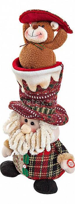 Дед Мороз Mister ChristmasДеды Морозы<br>Артикул - MC_CHL-364SN,Бренд - Mister Christmas (Россия),Коллекция - Дед Мороз,Высота, мм - 380,Высота - 38 см,Цвет - разноцветный,Материал - текстиль,Компоненты, входящие в комплект - батарейки,Дополнительные параметры - электромеханическая игрушка;новогодняя мелодия<br>