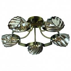 Потолочная люстра IDLamp5 или 6 ламп<br>Артикул - ID_601_5PF-MOONoldbronze,Бренд - IDLamp (Италия),Коллекция - 601,Гарантия, месяцы - 24,Время изготовления, дней - 1,Высота, мм - 280,Диаметр, мм - 590,Тип лампы - компактная люминесцентная [КЛЛ] ИЛИнакаливания ИЛИсветодиодная [LED],Общее кол-во ламп - 5,Напряжение питания лампы, В - 220,Максимальная мощность лампы, Вт - 60,Лампы в комплекте - отсутствуют,Цвет плафонов и подвесок - дымчатый,Тип поверхности плафонов - прозрачный, рельефный,Материал плафонов и подвесок - стекло,Цвет арматуры - бронза античная,Тип поверхности арматуры - глянцевый,Материал арматуры - металл,Возможность подлючения диммера - можно, если установить лампу накаливания,Тип цоколя лампы - E14,Класс электробезопасности - I,Общая мощность, Вт - 300,Степень пылевлагозащиты, IP - 20,Диапазон рабочих температур - комнатная температура,Дополнительные параметры - способ крепления светильника к потолку — на монтажной пластине<br>