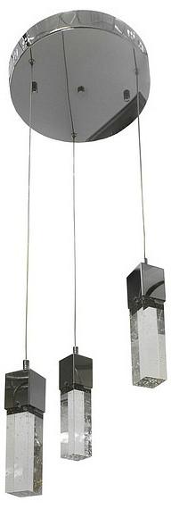 Подвесной светильник Kink LightДля кухни<br>Артикул - KL_6110-3A.LED,Бренд - Kink Light (Китай),Коллекция - Аква,Гарантия, месяцы - 24,Высота, мм - 1300,Диаметр, мм - 400,Тип лампы - светодиодная [LED],Общее кол-во ламп - 3,Напряжение питания лампы, В - 220,Максимальная мощность лампы, Вт - 5,Цвет лампы - белый,Лампы в комплекте - светодиодные [LED],Цвет плафонов и подвесок - неокрашенный,Тип поверхности плафонов - прозрачная,Материал плафонов и подвесок - стекло,Цвет арматуры - хром,Тип поверхности арматуры - глянцевый,Материал арматуры - металл,Количество плафонов - 3,Возможность подлючения диммера - нельзя,Цветовая температура, K - 4000 K,Экономичнее лампы накаливания - в 10 раз,Класс электробезопасности - I,Общая мощность, Вт - 15,Степень пылевлагозащиты, IP - 20,Диапазон рабочих температур - комнатная температура,Дополнительные параметры - способ крепления светильника к потолку - на монжатной пластине, регулируется по высоте<br>