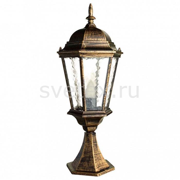 Наземный низкий светильник Arte LampСветильники<br>Артикул - AR_A1204FN-1BN,Бренд - Arte Lamp (Италия),Коллекция - Genova,Гарантия, месяцы - 24,Время изготовления, дней - 1,Высота, мм - 600,Диаметр, мм - 240,Тип лампы - компактная люминесцентная [КЛЛ] ИЛИнакаливания ИЛИсветодиодная [LED],Общее кол-во ламп - 1,Напряжение питания лампы, В - 220,Максимальная мощность лампы, Вт - 100,Лампы в комплекте - отсутствуют,Цвет плафонов и подвесок - неокрашенный,Тип поверхности плафонов - прозрачный, рельефный,Материал плафонов и подвесок - стекло,Цвет арматуры - черный с золотой патиной,Тип поверхности арматуры - матовый,Материал арматуры - дюралюминий,Количество плафонов - 1,Тип цоколя лампы - E27,Класс электробезопасности - I,Степень пылевлагозащиты, IP - 44,Диапазон рабочих температур - от -40^C до +40^C<br>