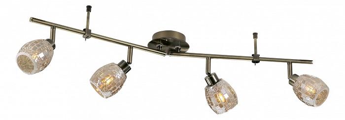 Спот Odeon LightСпоты<br>Артикул - OD_2166_4W,Бренд - Odeon Light (Италия),Коллекция - Glosse,Гарантия, месяцы - 24,Время изготовления, дней - 1,Длина, мм - 710,Выступ, мм - 190,Тип лампы - галогеновая,Общее кол-во ламп - 4,Напряжение питания лампы, В - 220,Максимальная мощность лампы, Вт - 40,Цвет лампы - белый теплый,Лампы в комплекте - галогеновые G9,Цвет плафонов и подвесок - неокрашенный,Тип поверхности плафонов - глянцевый, рельефный,Материал плафонов и подвесок - стекло,Цвет арматуры - бронза,Тип поверхности арматуры - глянцевый,Материал арматуры - металл,Количество плафонов - 4,Возможность подлючения диммера - можно,Форма и тип колбы - пальчиковая,Тип цоколя лампы - G9,Цветовая температура, K - 2800 - 3200 K,Экономичнее лампы накаливания - на 50%,Класс электробезопасности - I,Общая мощность, Вт - 160,Степень пылевлагозащиты, IP - 20,Диапазон рабочих температур - комнатная температура,Дополнительные параметры - поворотный светильник, плафон выполнен в технике мозаика<br>